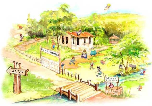 lugares imaginários - sítio do pica pau amarelo
