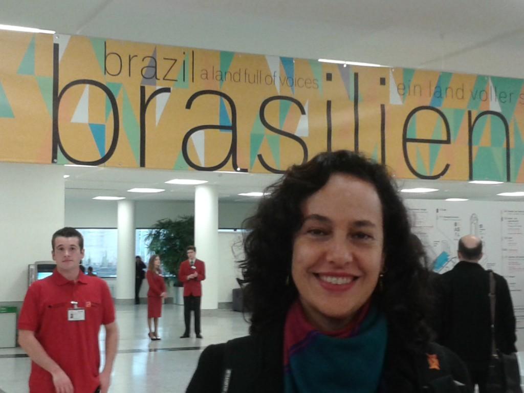 Valéria Martins na Feira de Frankfurt 2013