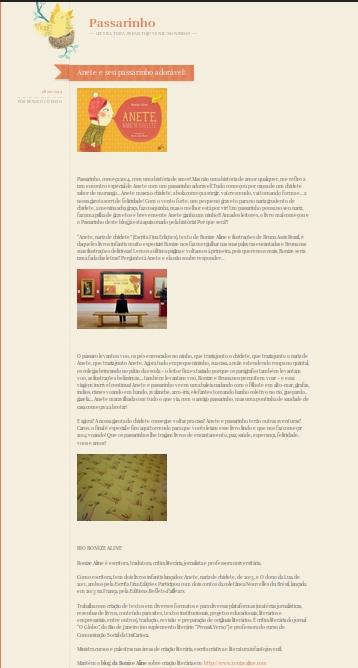 passarinho, blog tour