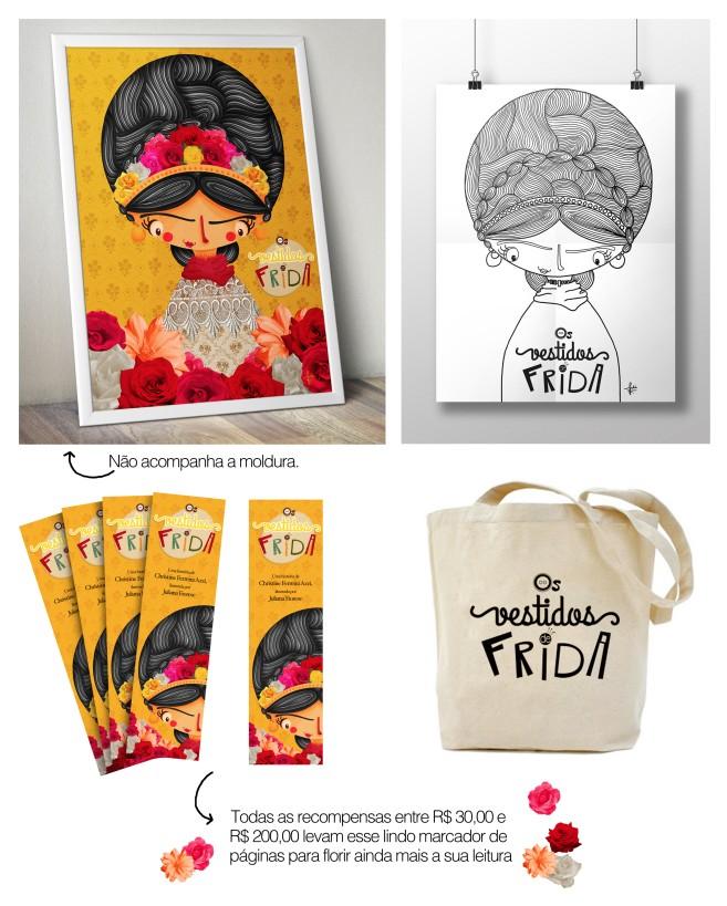 recompensas crowdfunding, os vestidos de Frida