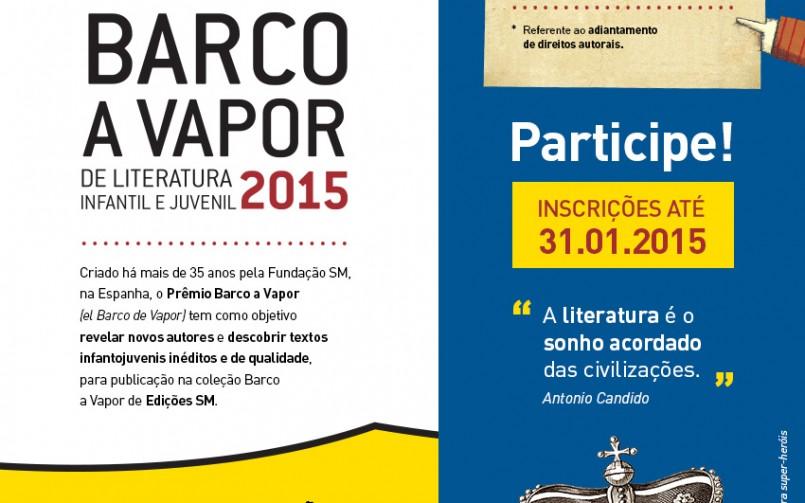 Barco a Vapor premia com R$40 mil e publicação da obra