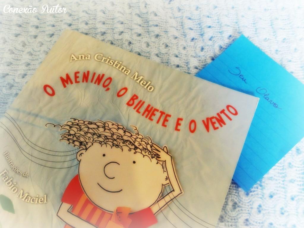 O menino, o bilhete e o vento ilustrações de Fabio Maciel