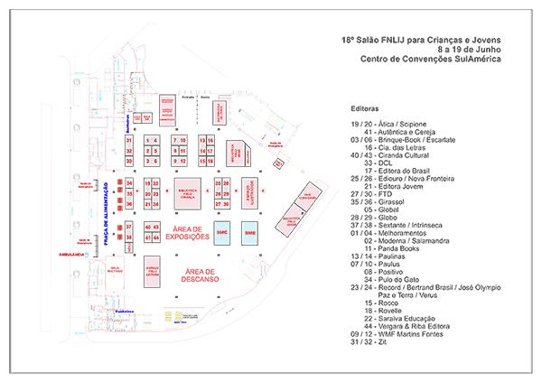 mapa do 18 Salão FNLIJ