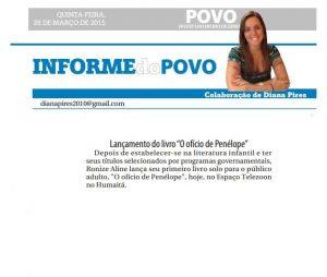Ronize Aline no Jornal O Povo