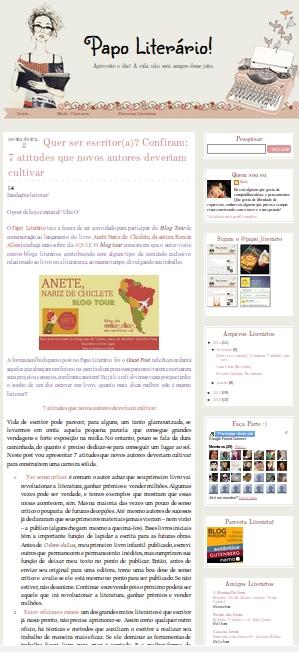 papo literário, blog tour