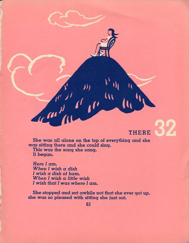 página de O mundo é redondo, de Gertrude Stein, em inglês