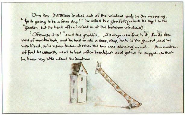 página de Mr. Bliss, de Tolkien - livros infantis obscuros