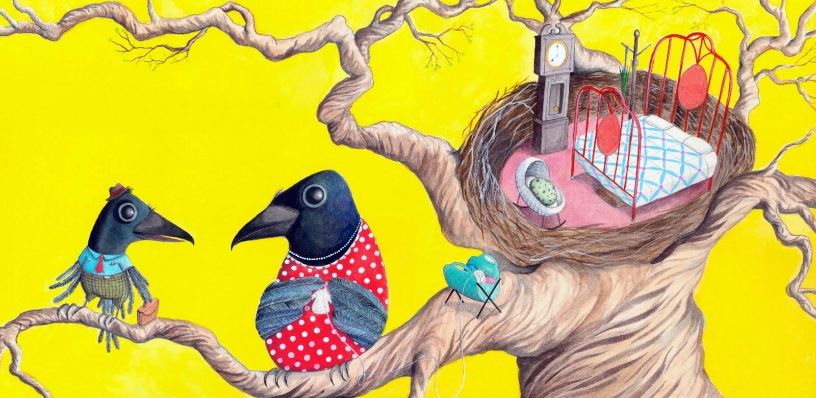 página de os corvos de pearblossom, de aldous huxley - livros infantis obscuros
